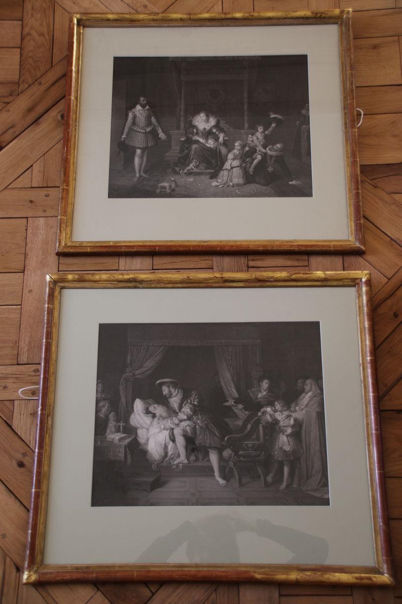 Paire De Gravures Du 19ème Siècle Par Jean-auguste-dominique Ingres