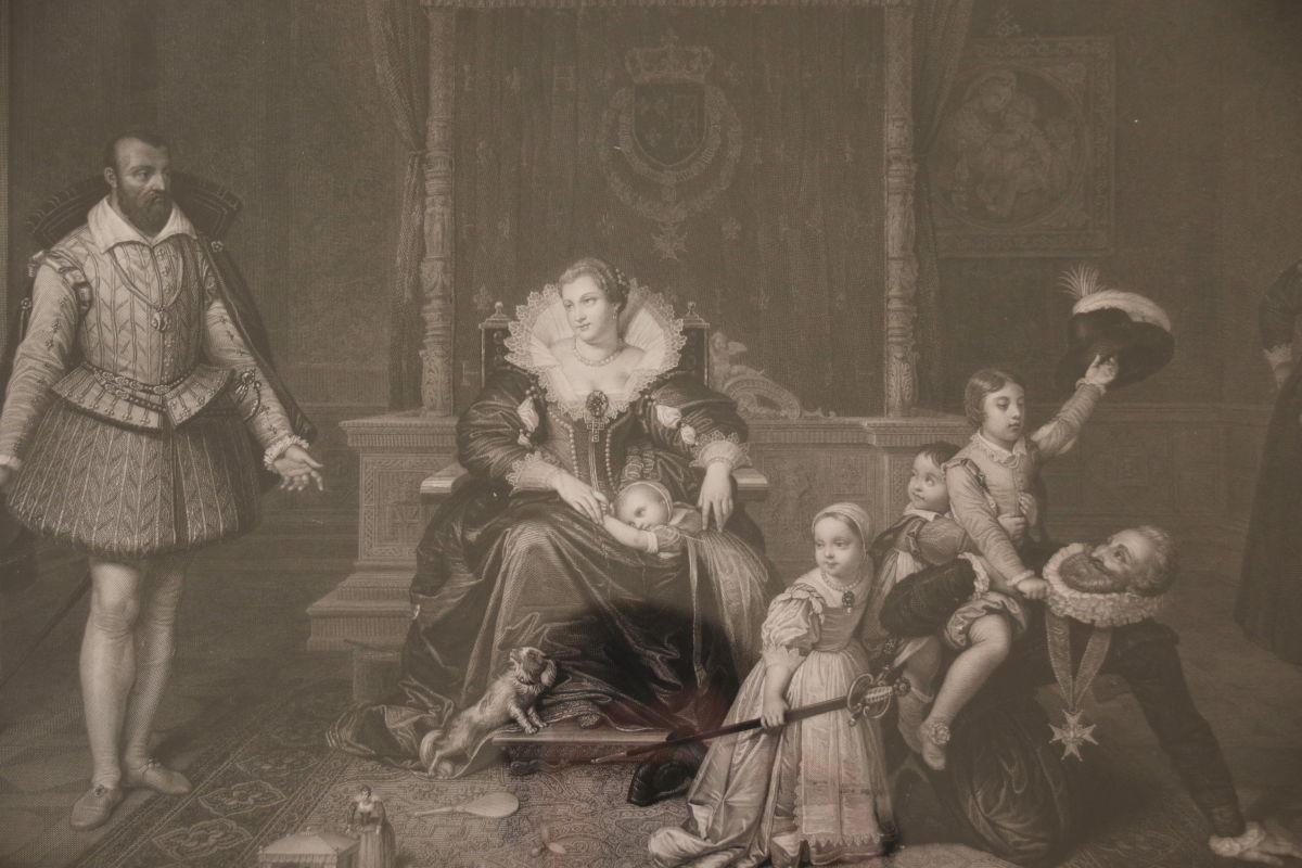 Paire De Gravures Du 19ème Siècle Par Jean-auguste-dominique Ingres -photo-1