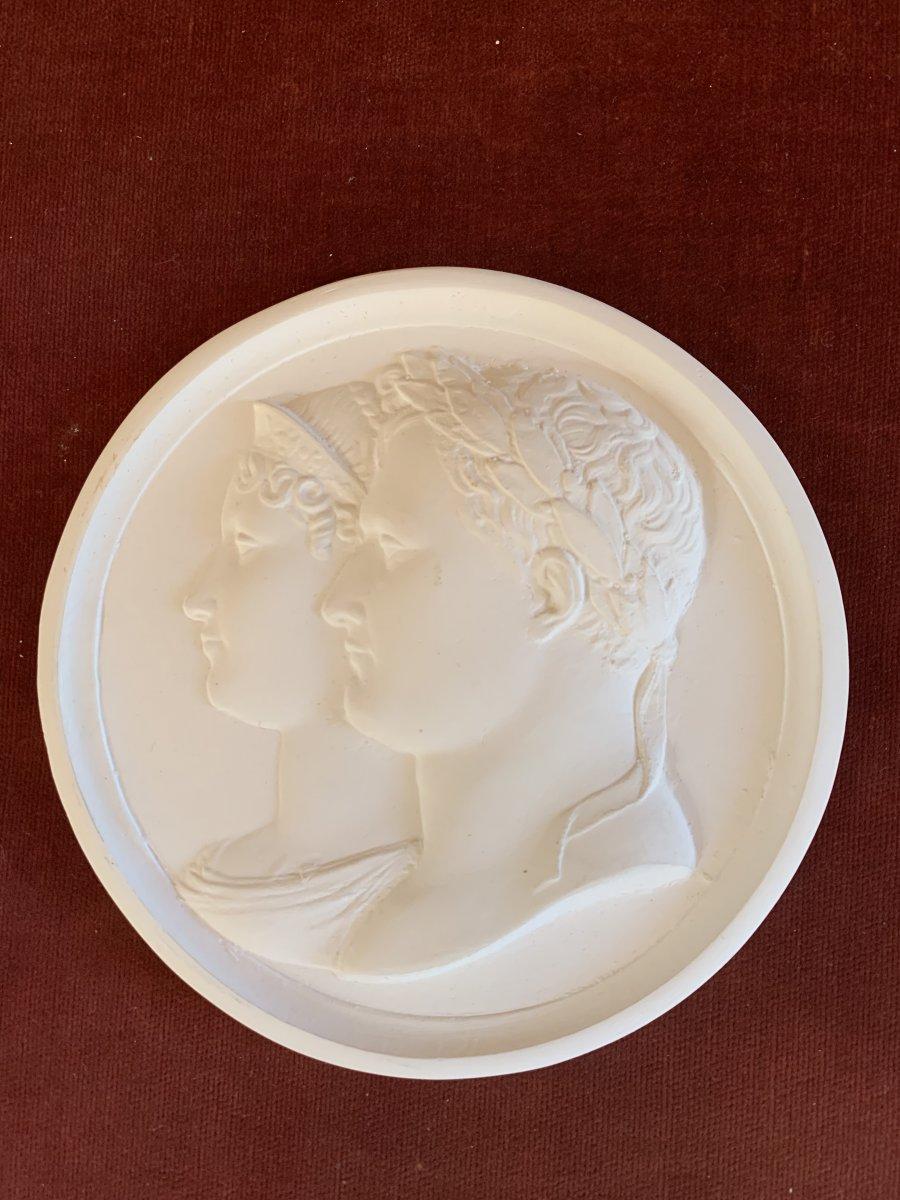 Médaillon Napoleon Et Joséphine