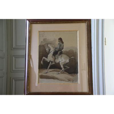 Aquarelle Sur Papier Par Charles Ferdinand De La Roche