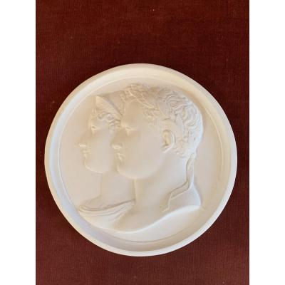 Medallion Napoleon And Josephine