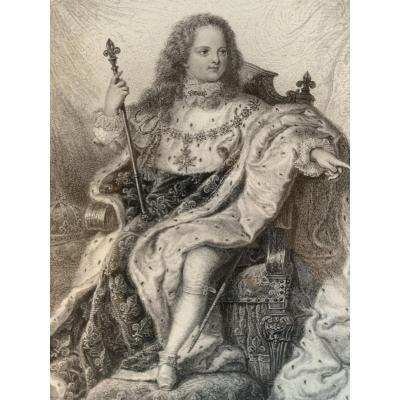 Portrait De Louis 15 En Habit De Sacre