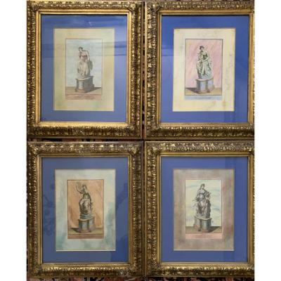 Muses Uranie, Calliope, Erato Et Polymnie