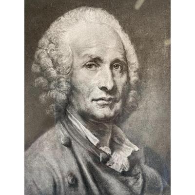 Portrait D'homme D'apres Peronneau