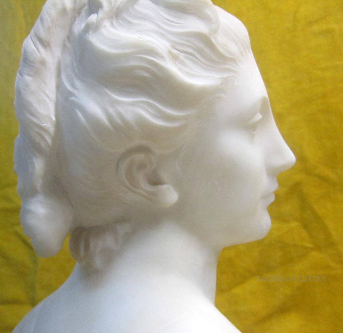Diane Sculpture Marbre d'Aprés Houdon