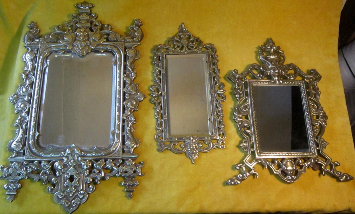Miroirs Bronze Napoléon III Néo-gothique 19éme