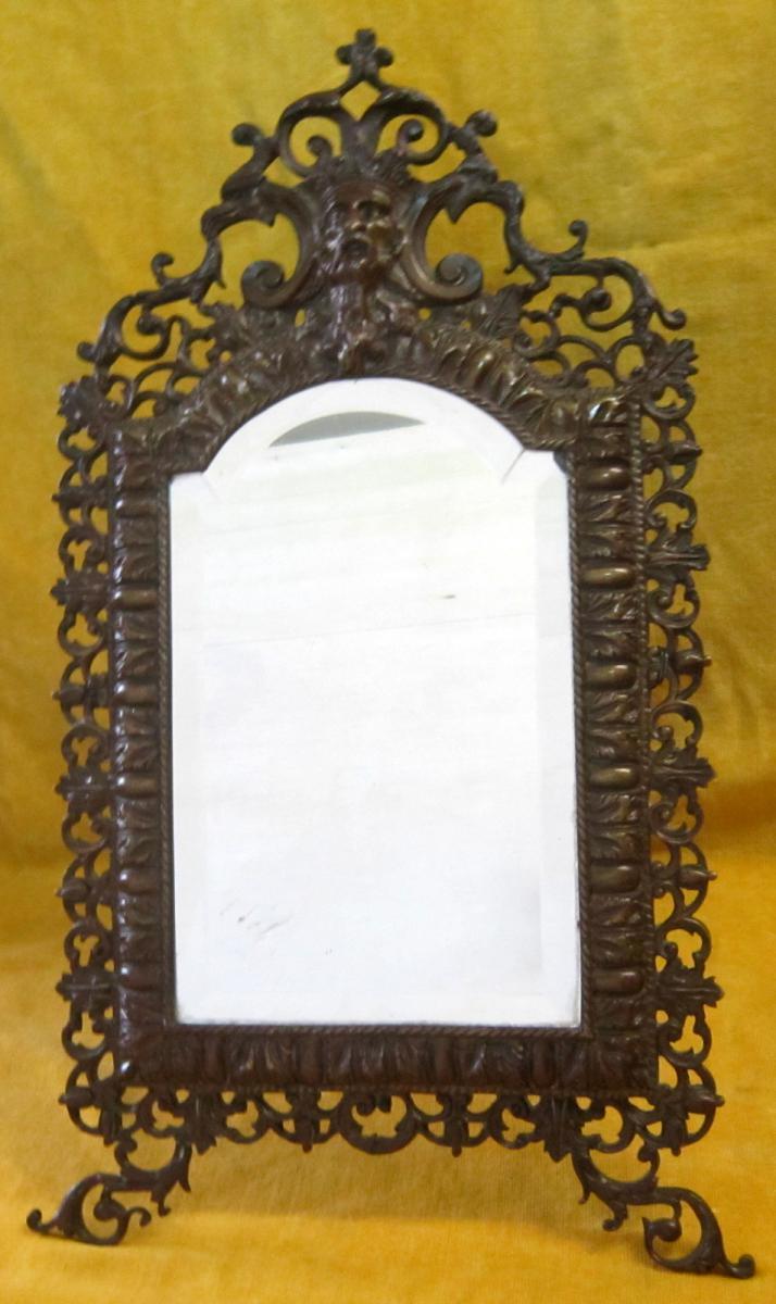 Miroir Bronze Style Renaissance Napoléon III