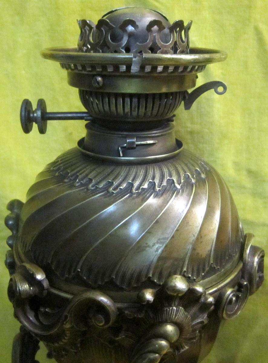 Paire Grandes Lampes Bronze St LXV Rocaille Napoléon III-photo-2