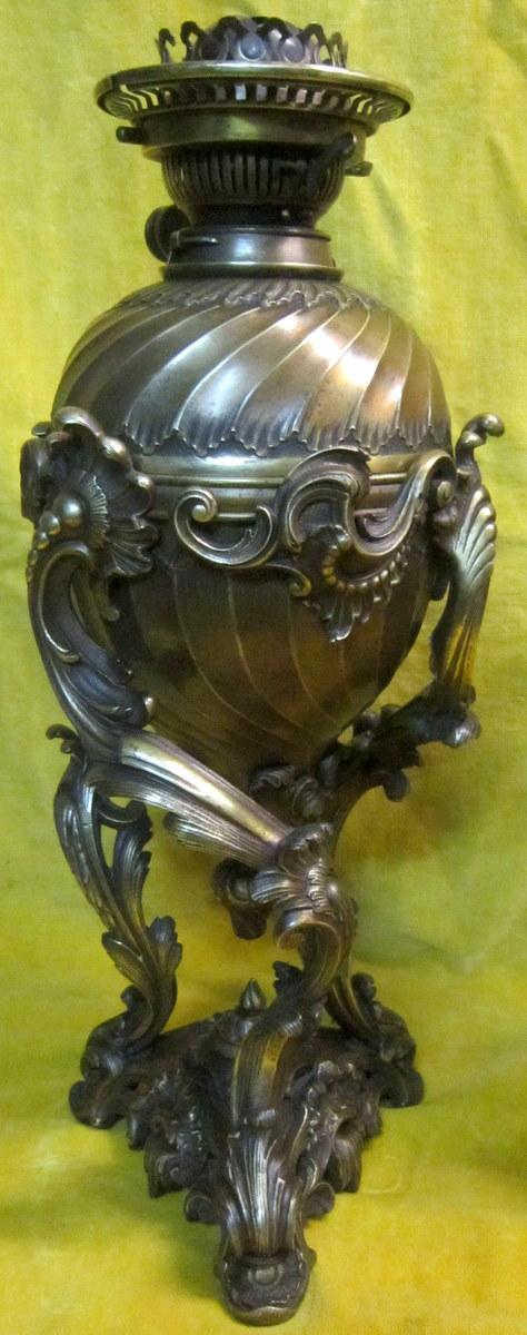 Paire Grandes Lampes Bronze St LXV Rocaille Napoléon III-photo-4