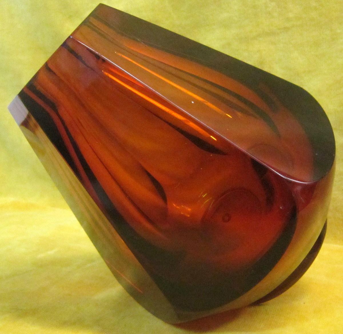 vase verre fum art d co 1930 muller lun ville vases et objets en verre. Black Bedroom Furniture Sets. Home Design Ideas