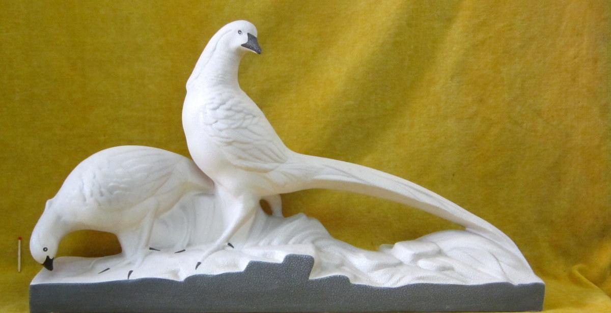 Faisan Céramique Crispé Perlé Art Deco 30 St Sèvres Vinsare