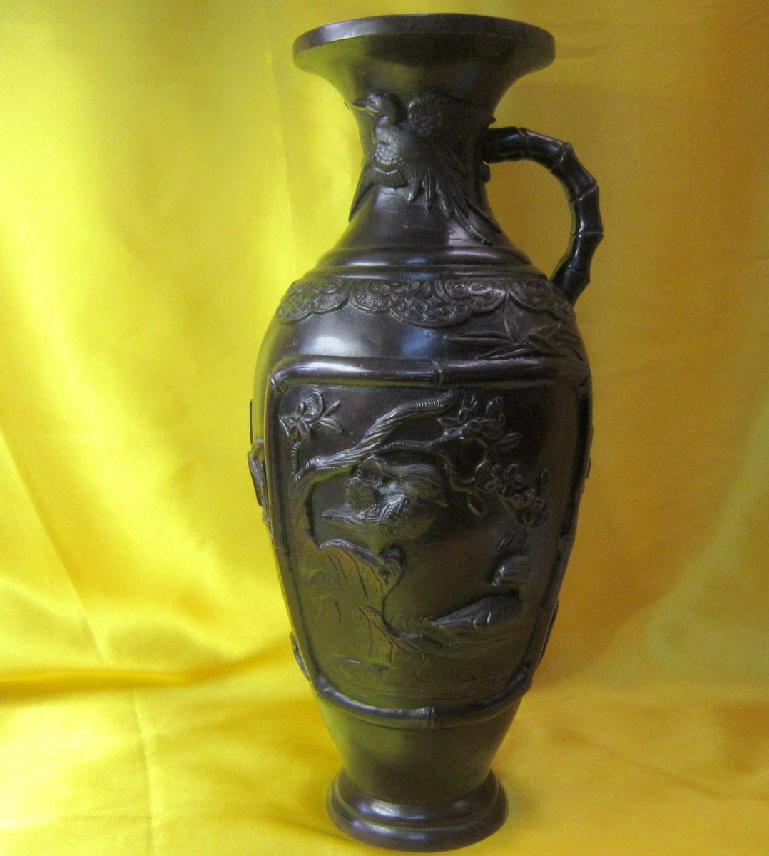 Vase Bronze Japon Impériale Meiji 19éme