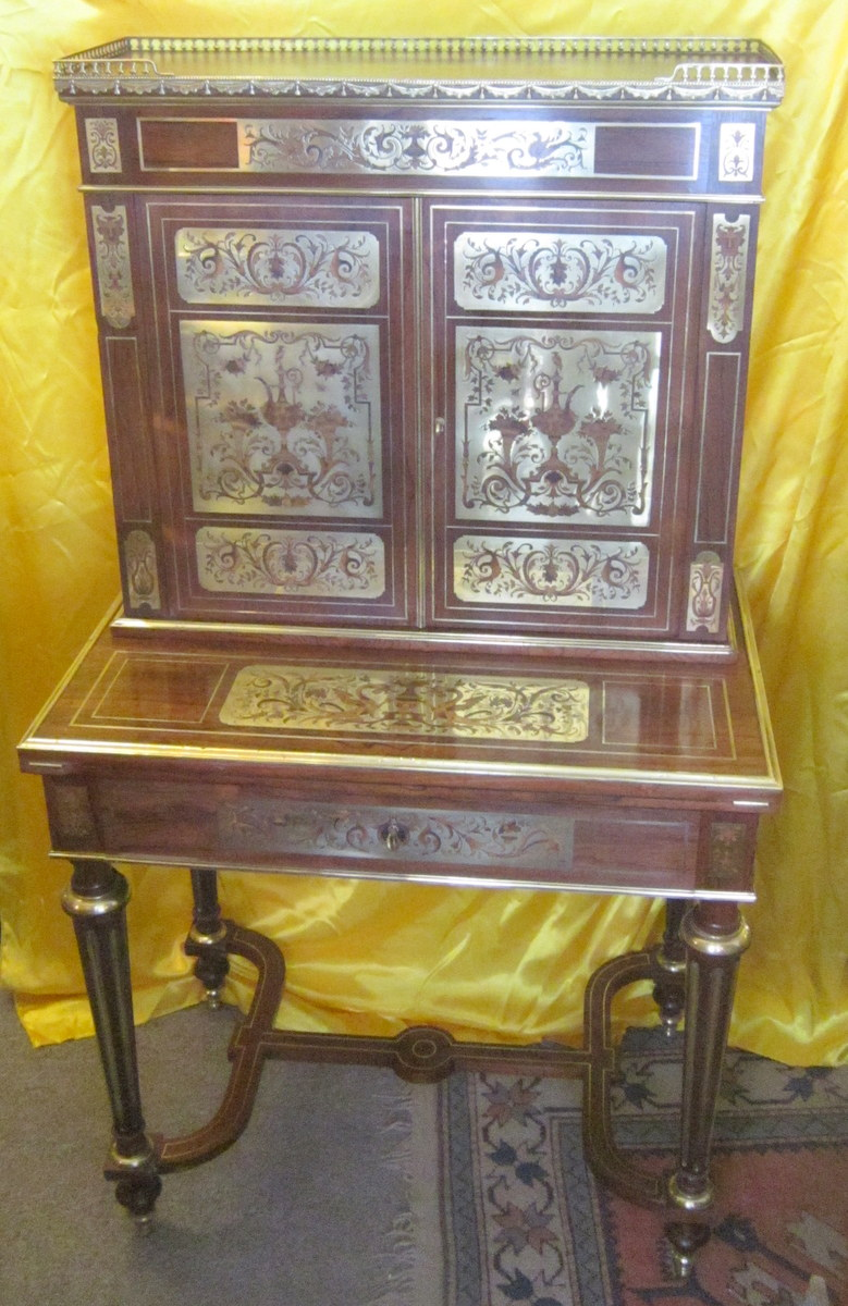 bureau bonheur du jour secretaire napoleon iii style lxiv boulle bureaux. Black Bedroom Furniture Sets. Home Design Ideas