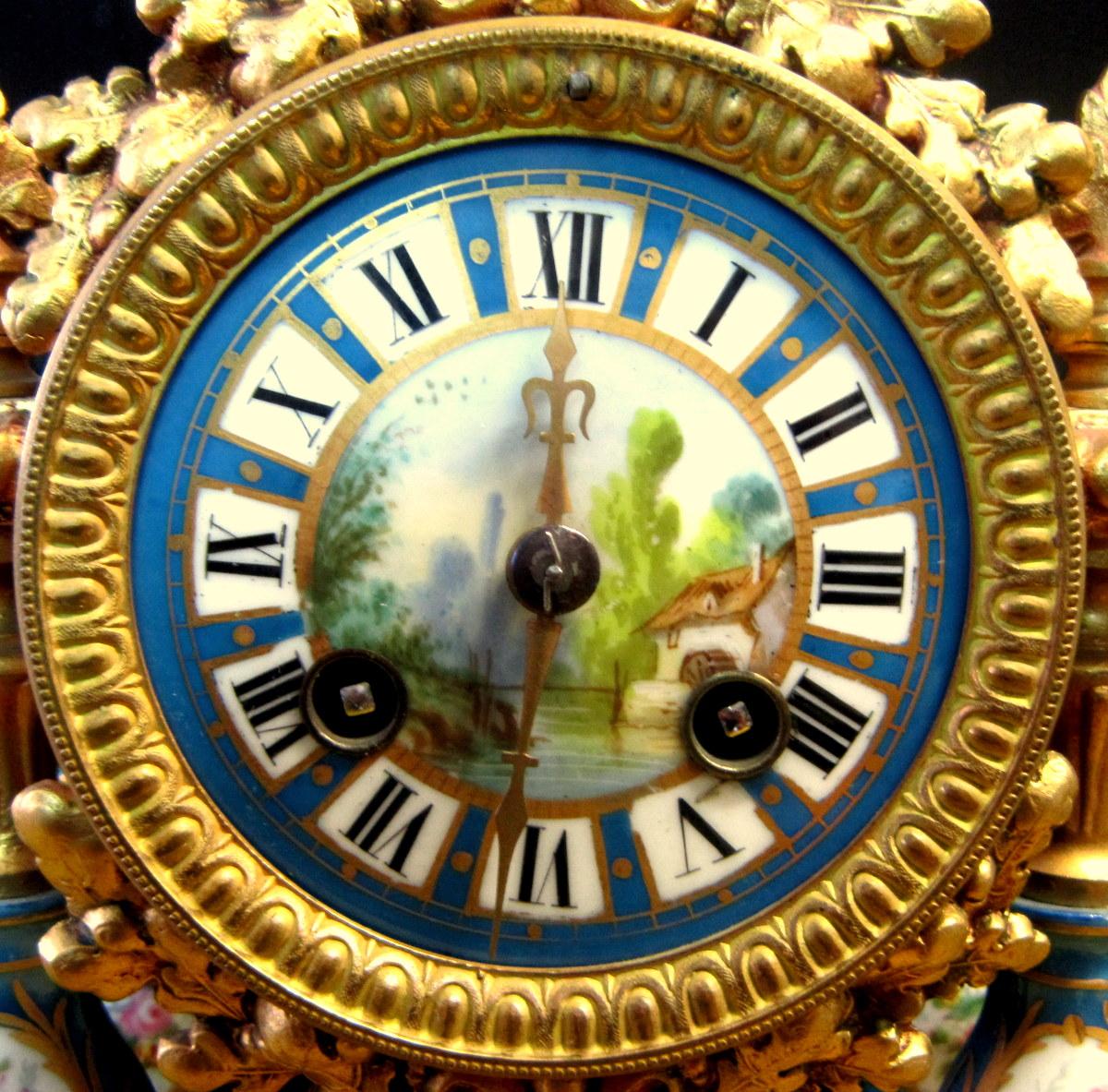 Pendule Néo-classique Lxv Décor St Sévres Napoléon III 19éme-photo-1