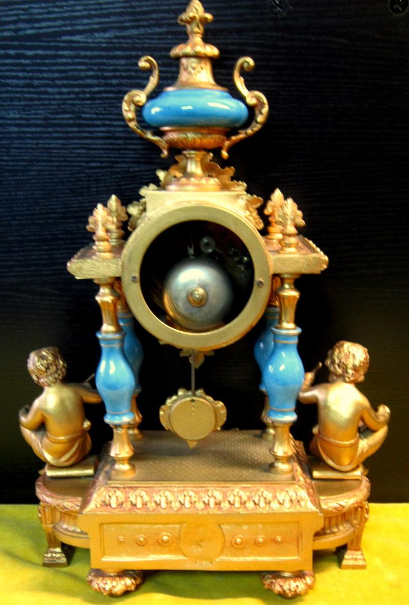 Pendule Néo-classique Lxv Décor St Sévres Napoléon III 19éme-photo-7