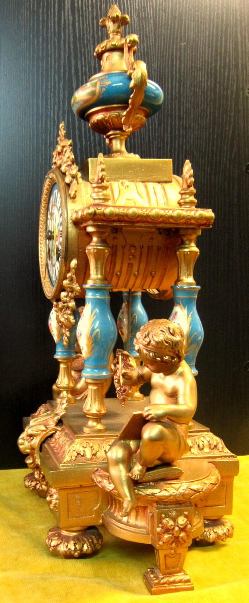 Pendule Néo-classique Lxv Décor St Sévres Napoléon III 19éme-photo-8