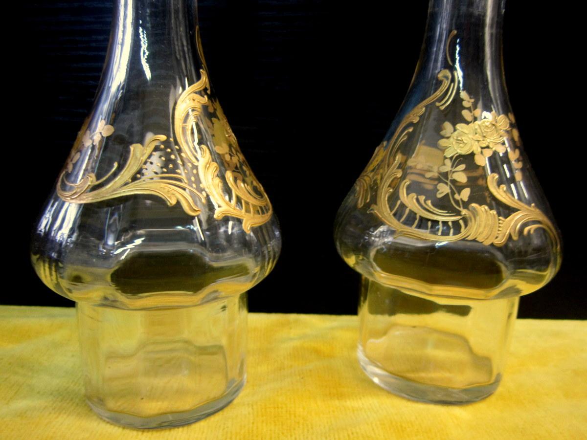 huilier vinaigrier st lxv rocaille 1900 vases et objets en verre. Black Bedroom Furniture Sets. Home Design Ideas