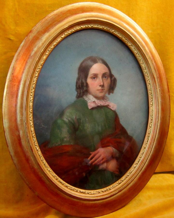 Portrait Pastel Very Good Family Girl 1849
