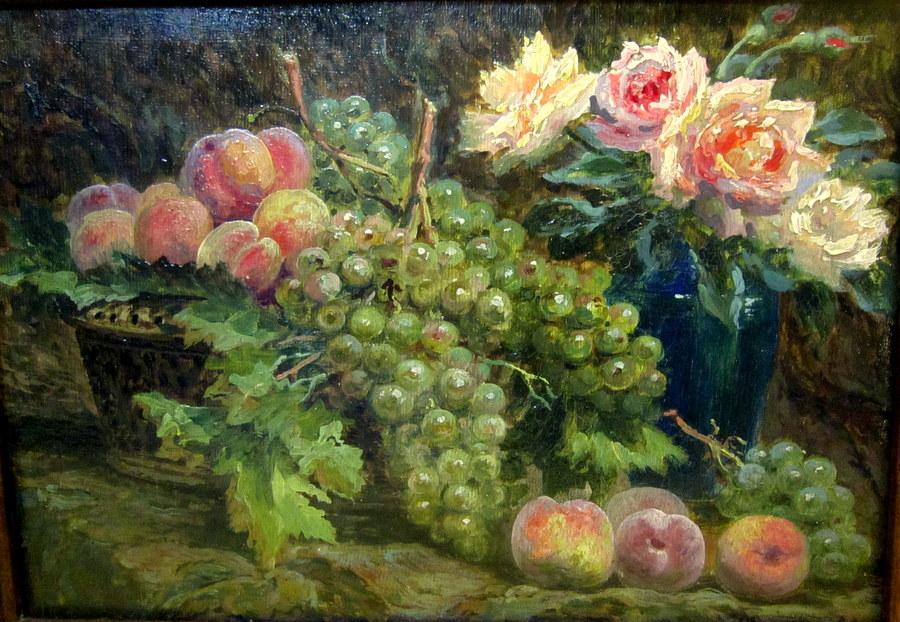 Nature Morte d'Automne Fleurs Et Fruits Olivier Marechal