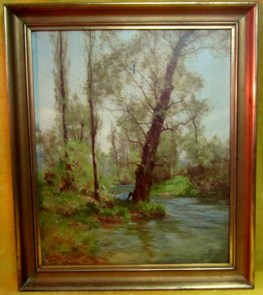 Sous Bois Huile Léon Boudot (Besançon 1851-1928 )
