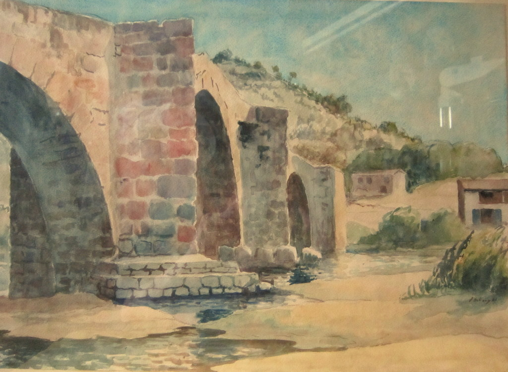 Watercolor North Africa H.pontoy 1941