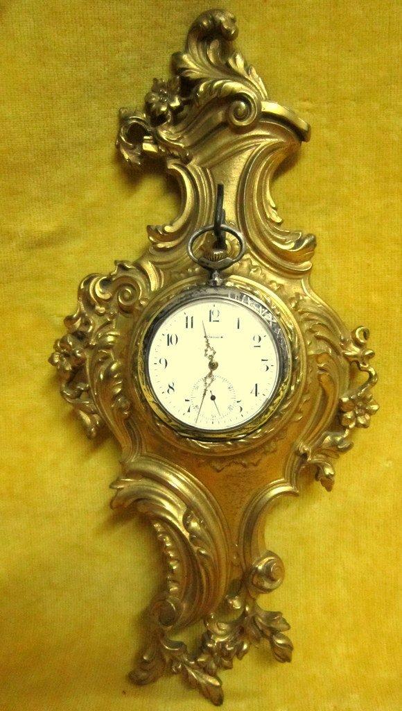 Porte Watch Bronze Gilt St Lxv Rocaille Napoleon III 19th