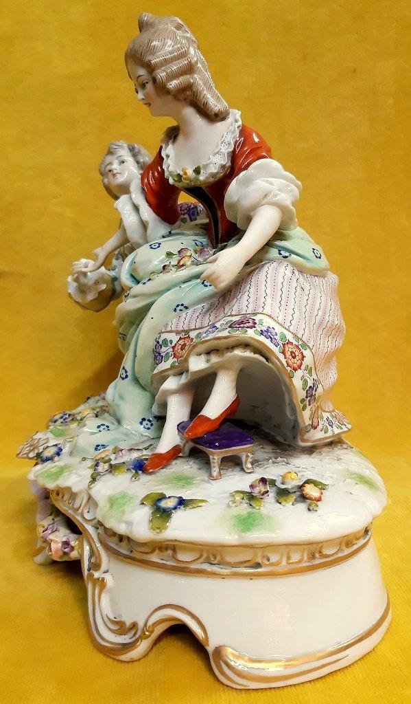 Saxony Porcelain Or Meissen Galante Scene XVIIIth Style