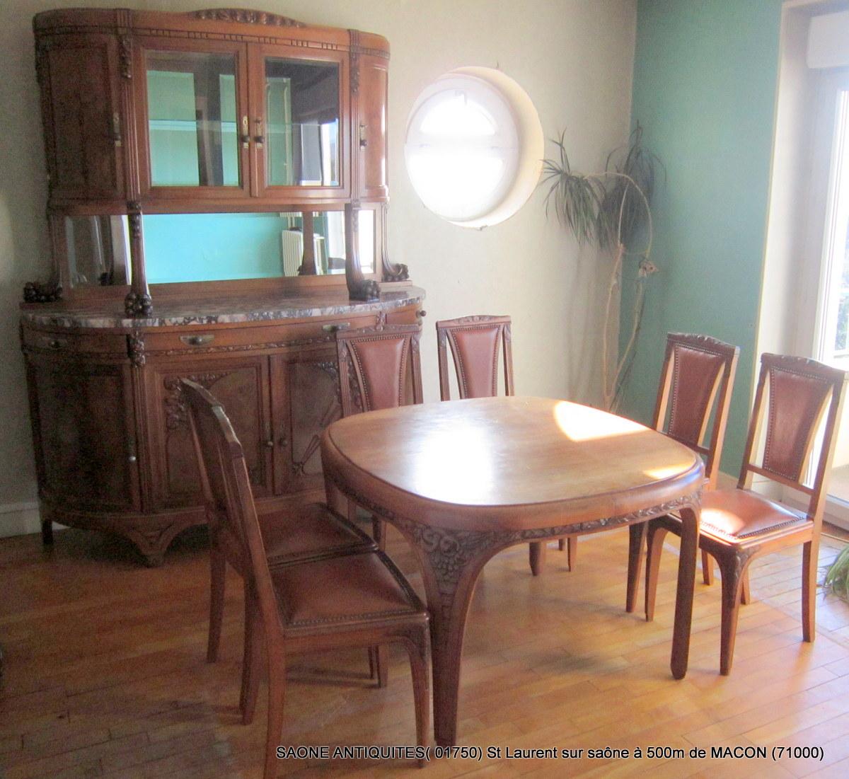 #90613B Salle à Manger Art Déco 1930 Noyer Autres Meubles 5011 salle à manger art déco occasion 1200x1101 px @ aertt.com