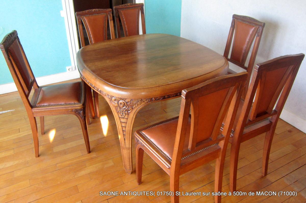 salle manger art d co 1930 noyer autres meubles. Black Bedroom Furniture Sets. Home Design Ideas