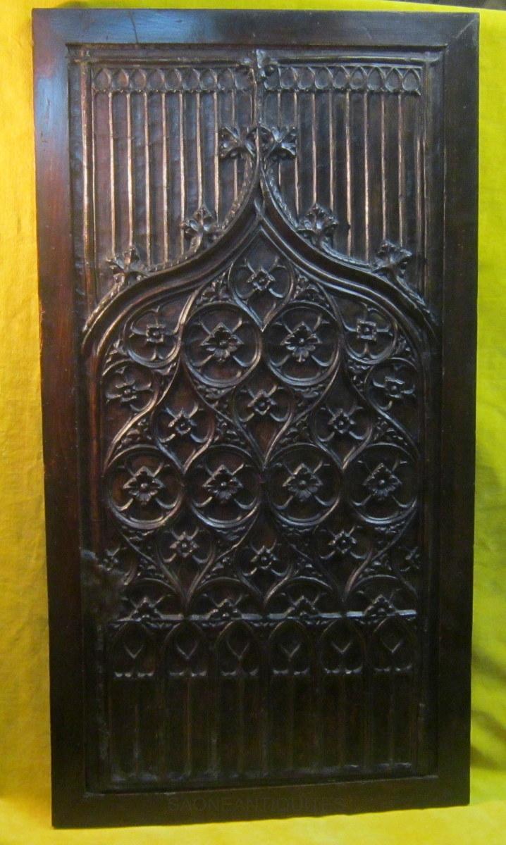 Panel Flamboyant Gothic Revival 19th