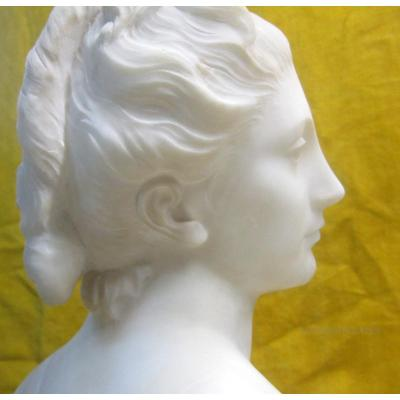Dianne Marble Sculpture Of After Houdon