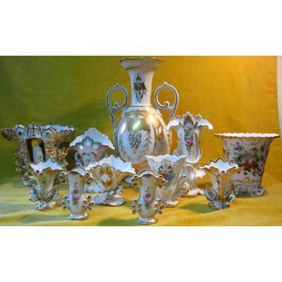 Vases Porcelaine De Paris 19éme