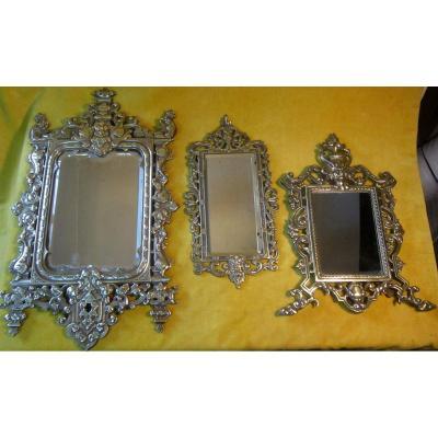 Mirrors Bronze Napoleon III Neo-gothic 19th