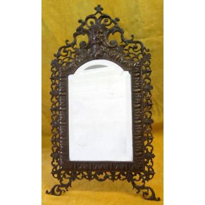 Bronze Mirror Napoleon III Style Renaissance