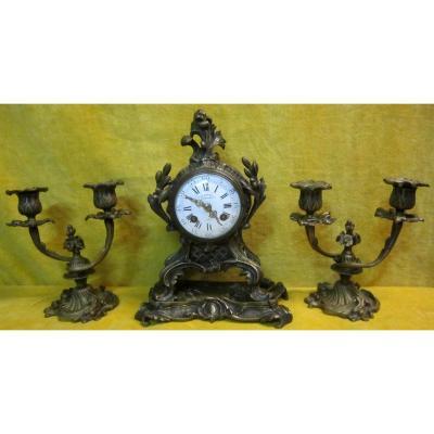 Pendulum Bronze Cartel Chendeliers St Lxv L.charvet Lyon