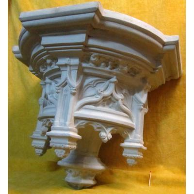 Console Support Revival Statue Terracotta 19th