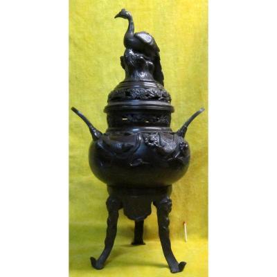 Perfume Bronze Burns Japan Meiji 19th