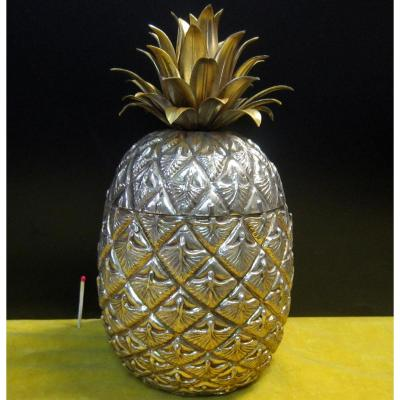 Ananas Bac à Glace Métal Doré 70 De Mauro Manetti