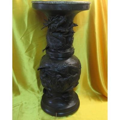 Very Large Bronze Vase Selette Imperial Japan Meiji 19th
