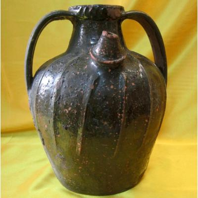 Pitcher Buire Jarre Folk Earth Auvergne 18-19th