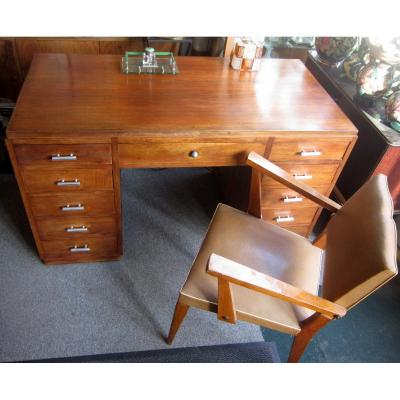 Office art deco 30 50 walnut cabinets drawers