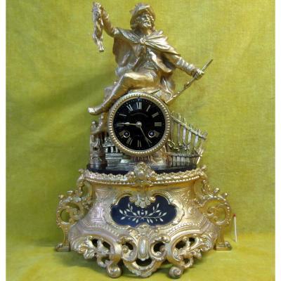 In Pendulum Doré Hunter Napoleon III 19th