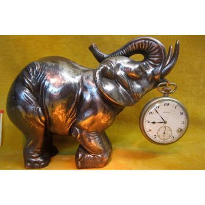 Circus Elephant Sculpture Keychain Art Deco Watch 1930