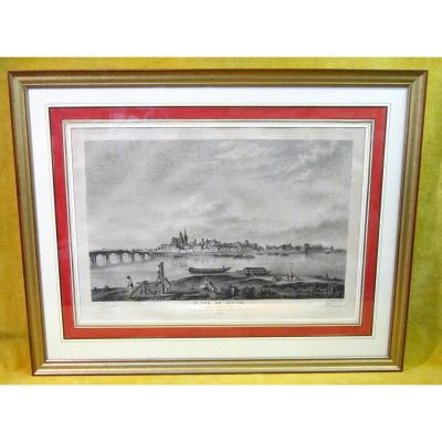 """Etching Printmaking """"1st View From Macon En Face Du Levant"""" Jb Lallemand 1740"""