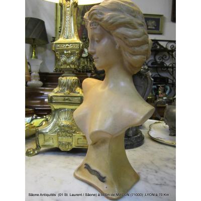 "Terracotta Bust Woman ""1900"""