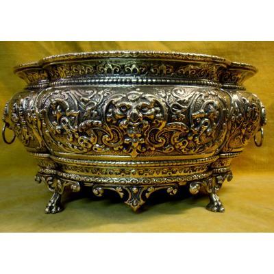 Jardiniére ,rafraichissoire, Cache-pot Polylobé St Renaissance Napoléon III