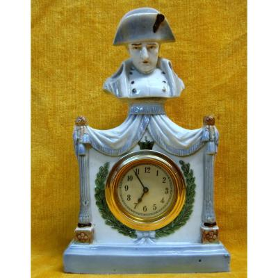 Pendulette Porcelaine Napoléon 1er Empereur
