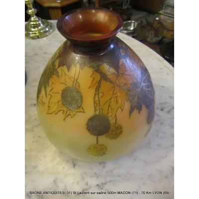 Art Deco Vase Signed Jem
