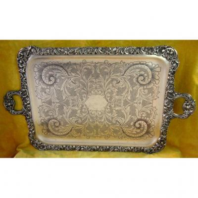 Large Serving Tray Etched And High Relief St Lxv Napoleon III