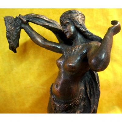 Danseuse Orientale égyptienne Bronze J.PLOQUIN (1860-?)